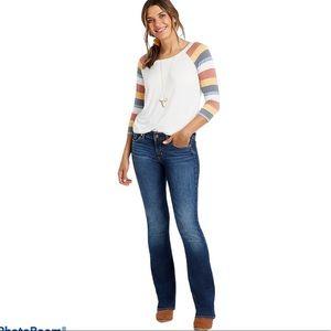 Silver Women's Suki Mid Boot Cut Blue Denim Jeans